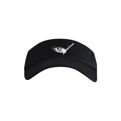 Golf Ball with Driver Logo Visor Black