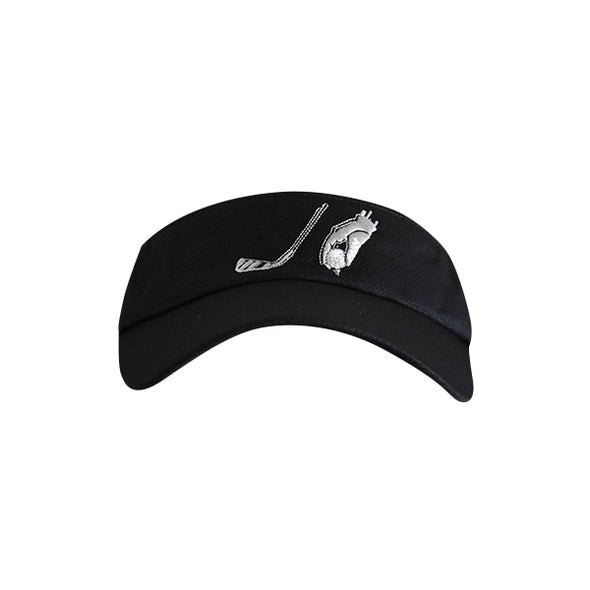 Golf Ball with Hand Logo Visor Black