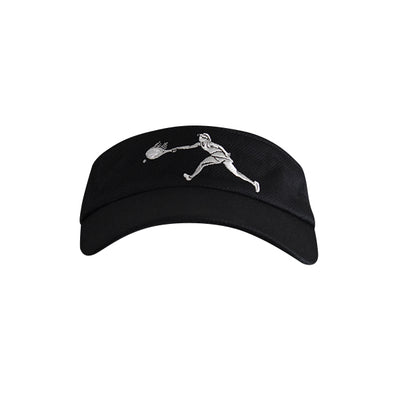 Female Tennis Player Logo Visor Black