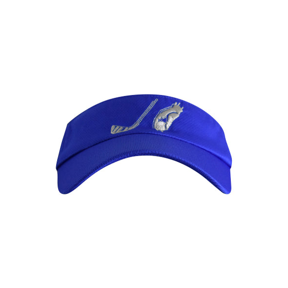 Golf Ball with Hand Logo Visor Blue