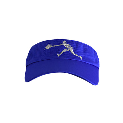 Female Tennis Player Logo Visor Blue
