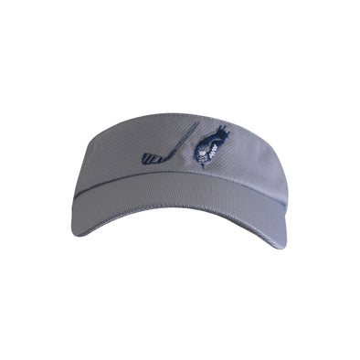Golf Ball with Hand Logo Visor Grey