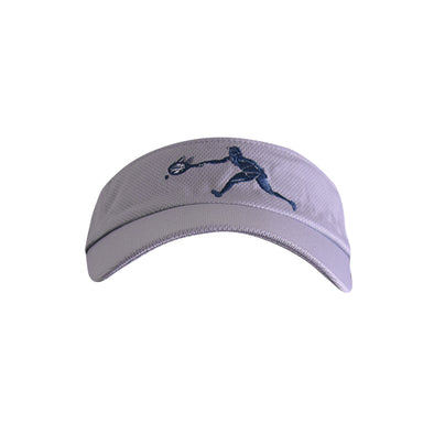Female Tennis Player Logo Visor Grey