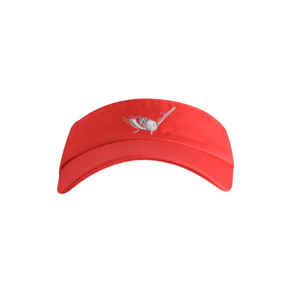 Golf Ball with Driver Logo Visor Red