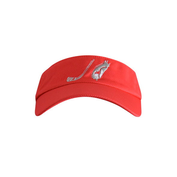 Golf Ball with Hand Logo Visor Red