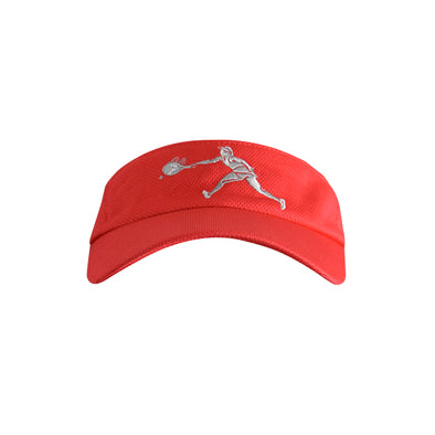 Female Tennis Player Logo Visor Red