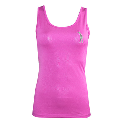 Ladies Pink Workout Tank Top