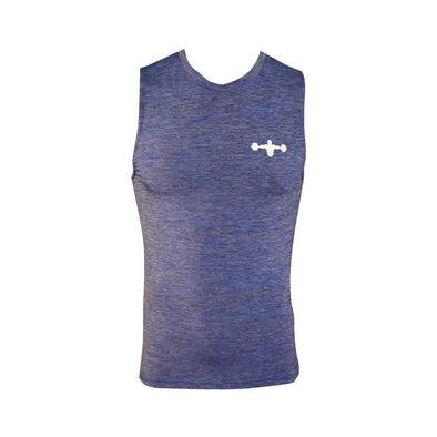 Weightlifter Blue Sleeveless Muscle Shirt