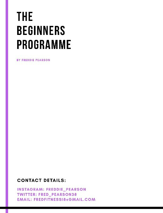 The Beginners Programme - A Guide to Self Improvement Document - Fitness