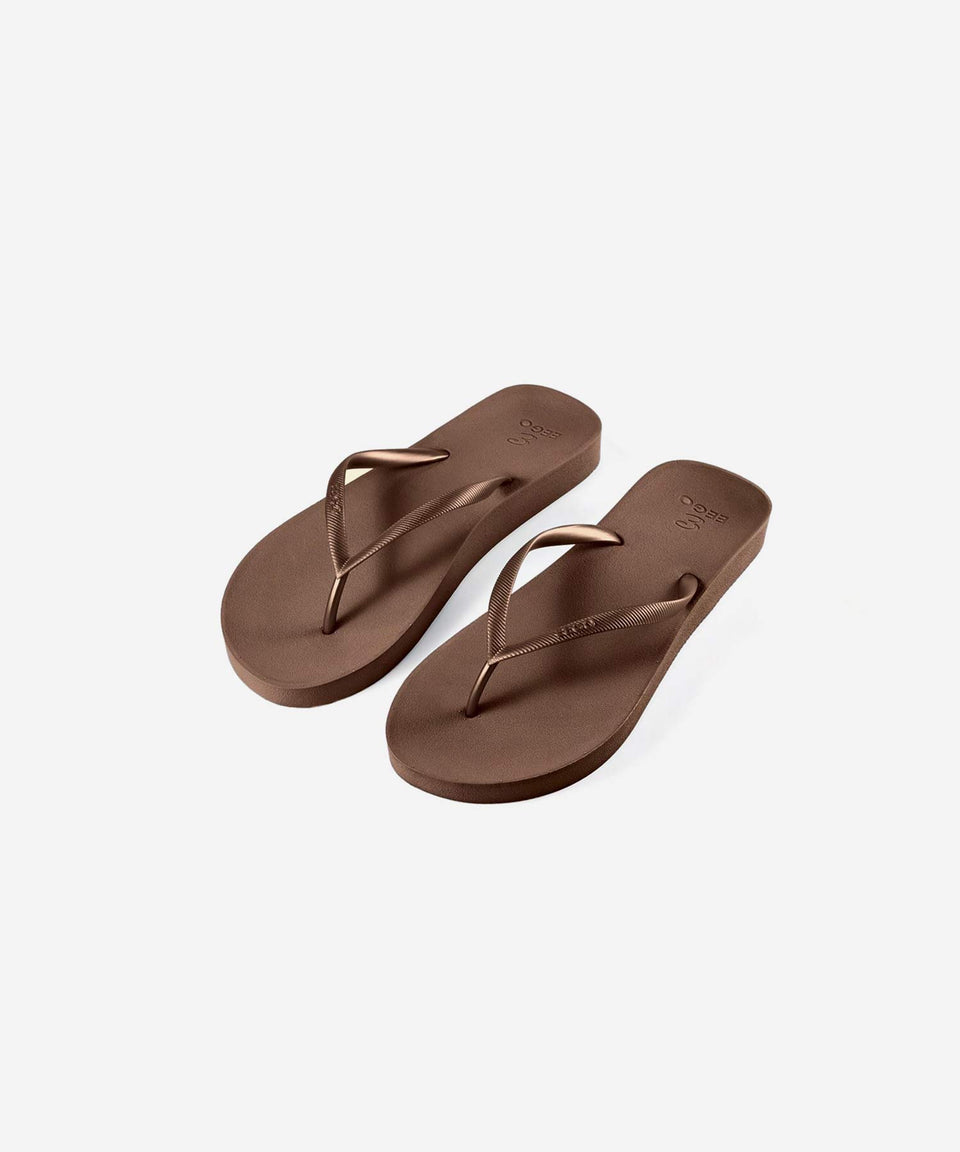 EEGO Ladies Flip Flop, in Brown