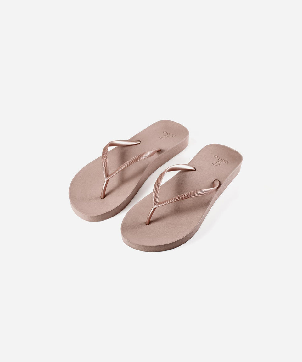 EEGO Ladies Flip Flop, in Nude