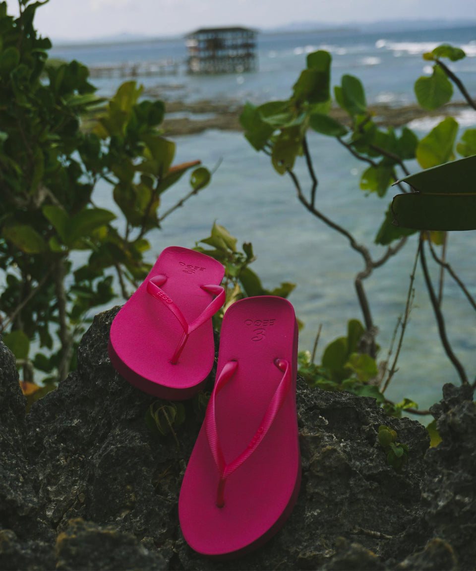EEGO Ladies Flip Flop, in Taffy Pink