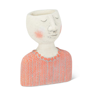 Kinfolk Woman Head Planter 3.5""
