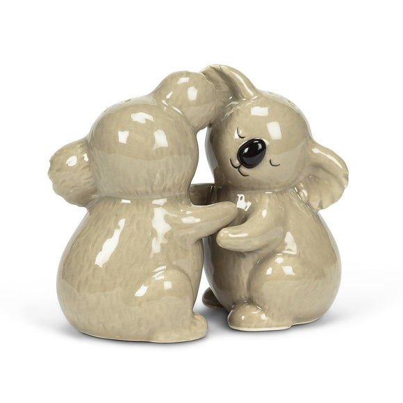 Salt & Pepper Hugging Koalas