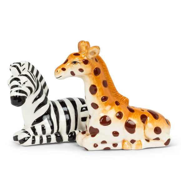 Salt & Pepper Giraffe & Zebra