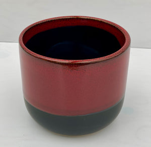 "4.75"" Reactive Glaze Dolomite Red Pot"