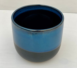 "4.75"" Reactive Glaze Dolomite Blue Pot"