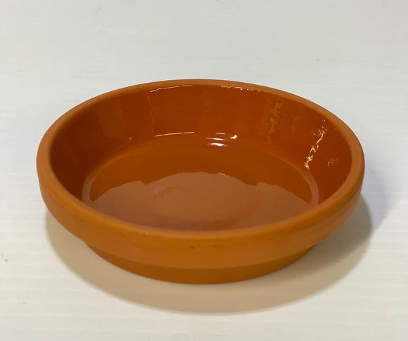 Clay Saucer Glazed 3.5