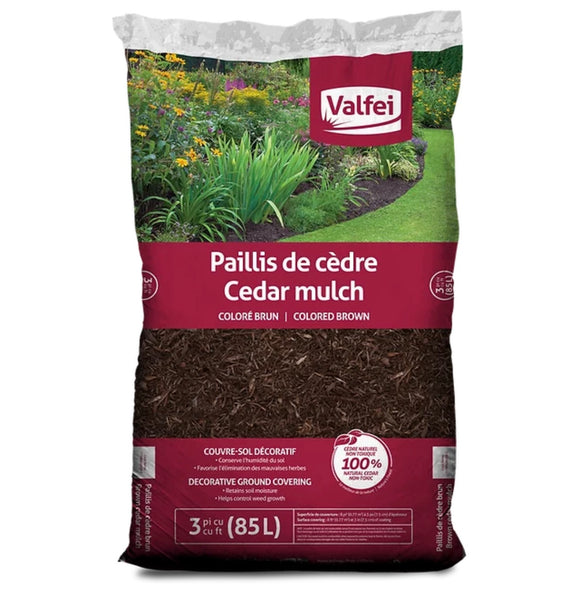 Mulch Brown Cedar 3cft