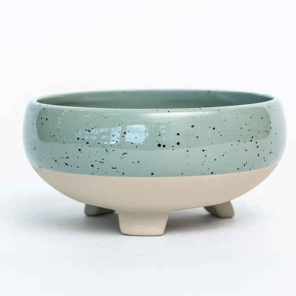 Sage Dolomite Footed Bowl 8.3