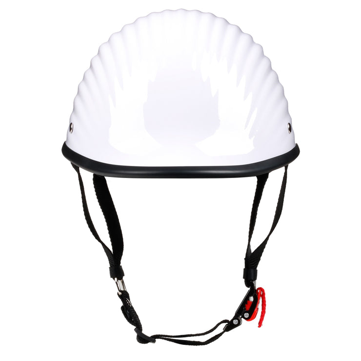 The Rib™ Polo Motorcycle Helmet DOT Approved Low Profile Mayans Style