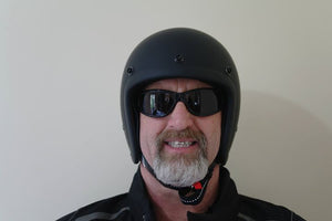 Low Profile Helmet, Harley Helmet Lowest Profile ECE approved sticker & Tag on chin strap, great fitting small shell Helmet 100% legal in Australia