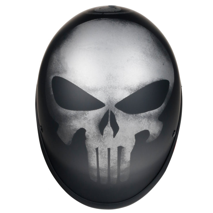 Skull Polo™ Motorcycle Helmet DOT Approved Low Profile Mayans Style