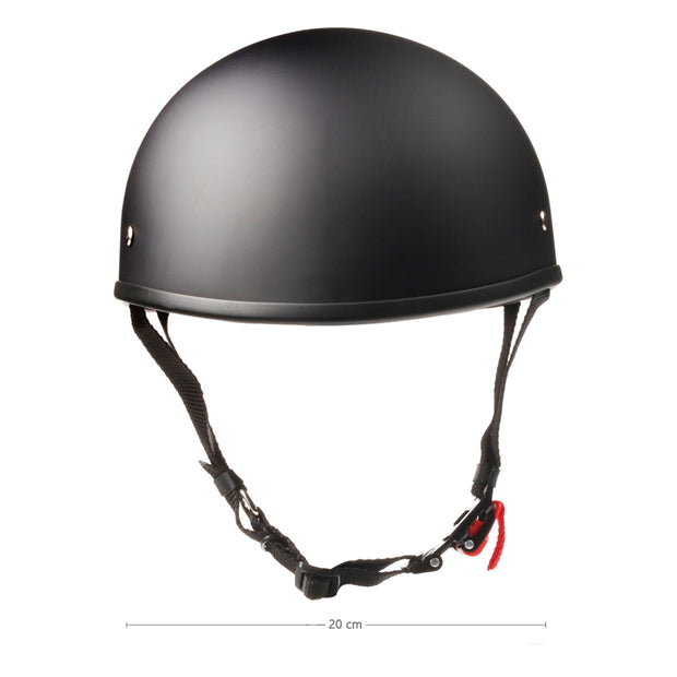 Low Profile Beanie Motorcycle Helmet Black | Biker Lid