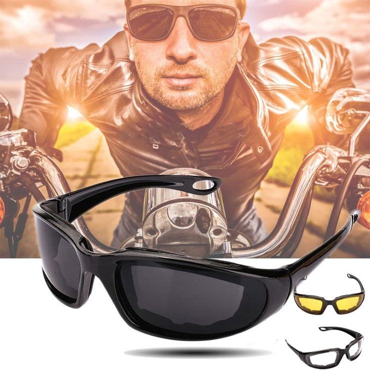 Sunnies™ Motorcycle Riding Sunglasses (Windproof, Clear, Yellow or Smoked)