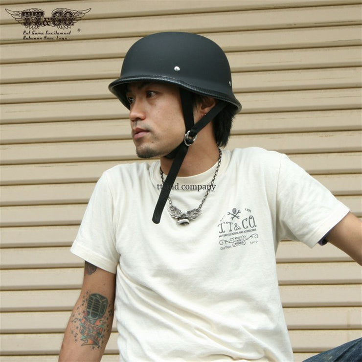 The German™ Mayans Style Motorcycle Helmet Low Profile DOT Approved