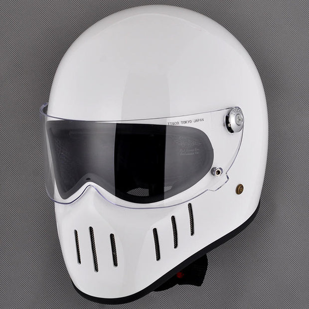 Lane Splitter | Retro Black Helmet Visor | Biker Lid