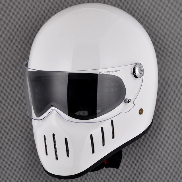 Lane Splitter™ - Retro Fiberglass Helmet (with Visor)