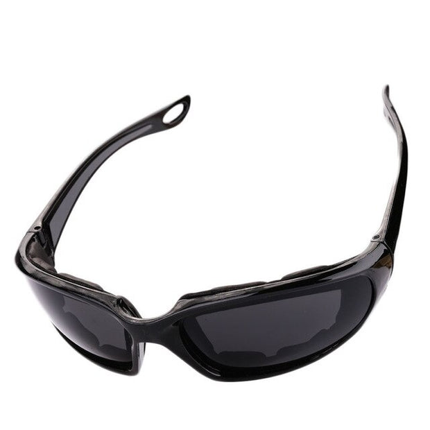 Motorcycle Riding Sunglasses Black & Grey Tint | Bikerlid