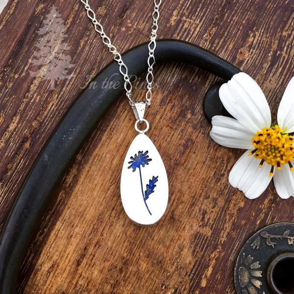 Nature inspired silver necklace