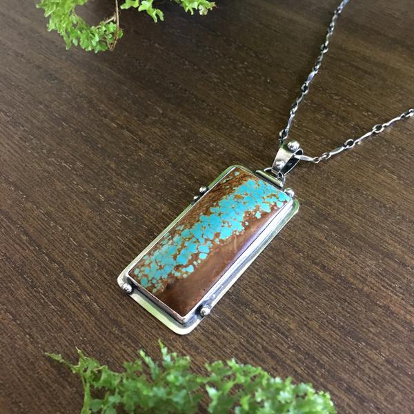 Nature inspired tree turquoise necklace