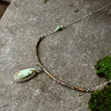 Twig and turquoise necklace