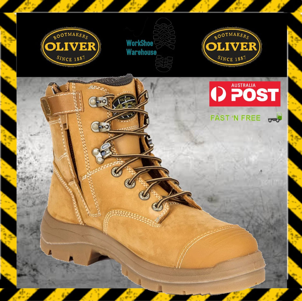 b7425b74ade Oliver Work Boots 55332z Wheat Steel Toe Cap Safety Side Zip Boots ...