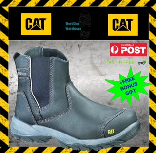 Caterpillar Cat Propane Mens Steel Toe Cap Black Safety Work Boots