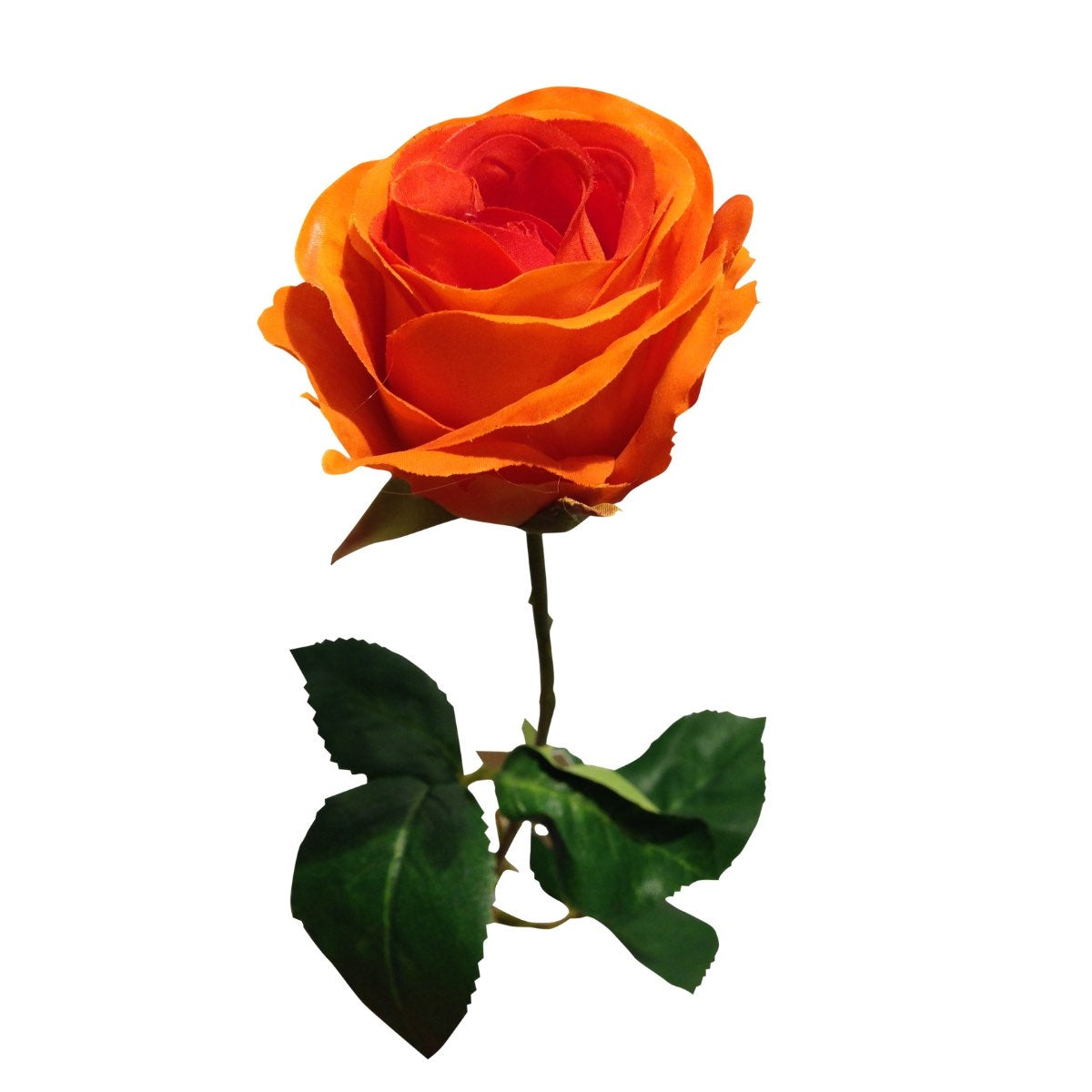 Rosa artificial naranja