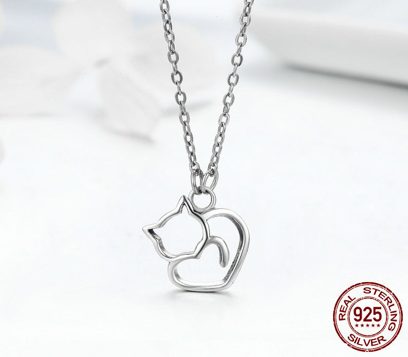 Sterling Silver Lovely Cat
