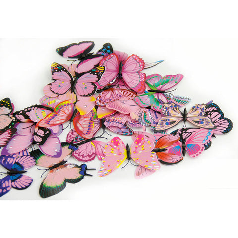 Image of 12x 3D Butterfly Wall Sticker Room Decor Decal