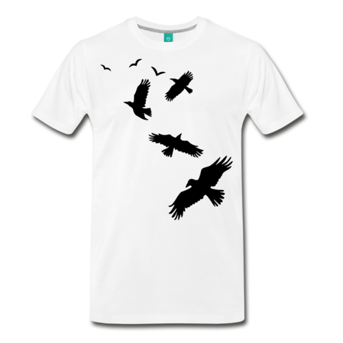 Men's Flying Crows 100% Cotton T-Shirt