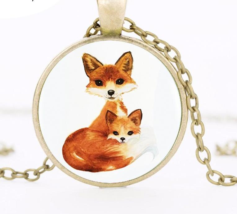 Double Fox Pendant