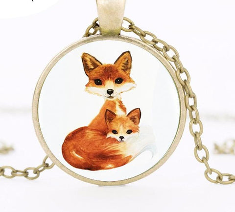 Image of Double Fox Pendant