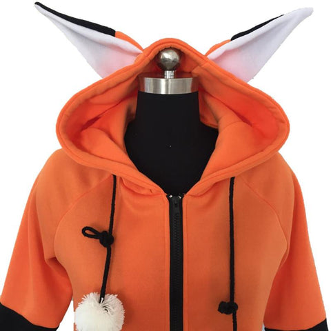 Women's Hoodies Fox Ears Hooded Sweatshirt