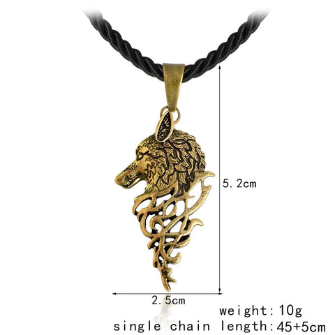 Another Mythical Wolf Necklace