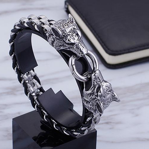 Image of Wolf Head Bracelet