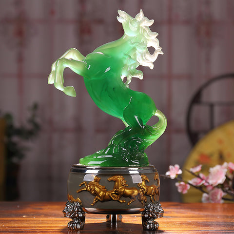 Image of Crystal Horse Sculpture