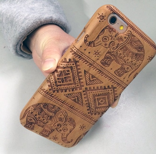 Elephant Wood iPhone Case
