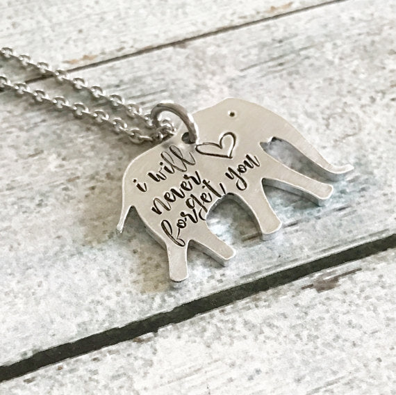 Never Forget - Elephant Necklace
